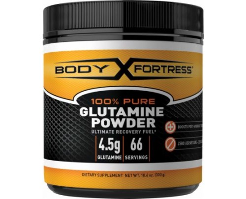 Body Fortress 100% Pure Glutamine Powder 300 Grams