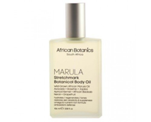 African Botanics Marula Stretchmark Botanical Body Oil 3.38 oz