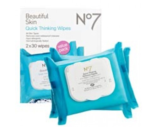 Boots No7 Quick Thinking Wipes  Value Pack 60 ct