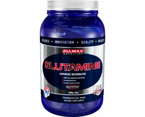 AllMax Nutrition Micronized Glutamine Unflavored 1000 Grams - Post-Workout Recovery
