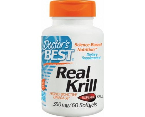 Doctor's Best Real Krill  60 Softgels - Fish Oil, Flax Oil & Omegas