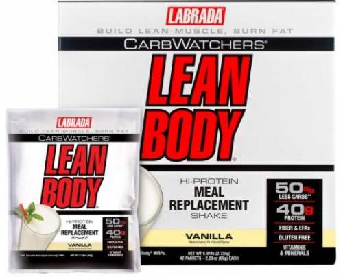 Labrada Carb Watchers Lean Body MRP Vanilla 42 Packets - Meal Replacement