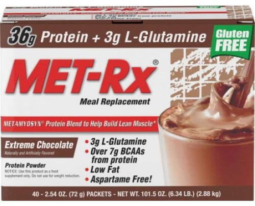 MET-Rx Meal Replacement Extreme Chocolate 40 Packets - Meal Replacement