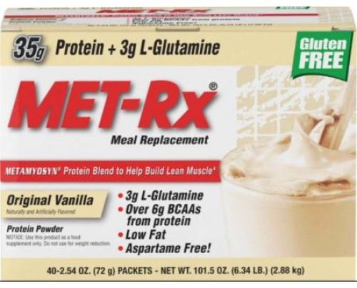 MET-Rx Meal Replacement Original Vanilla 40 Packets - Meal Replacement