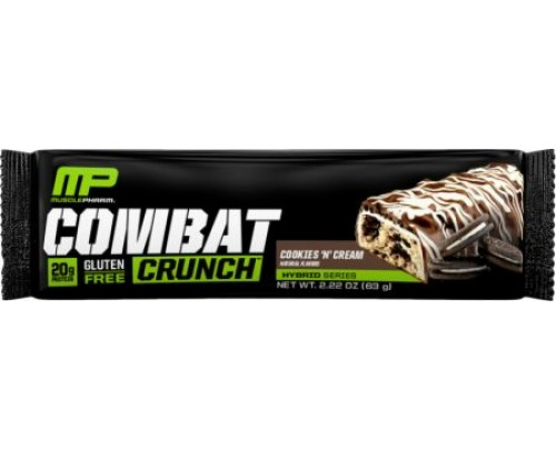 MusclePharm Combat Crunch Bars Cookies 'N' Cream 1 Bar - Protein Bars