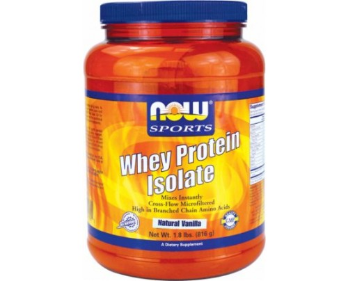 NOW Whey Protein Isolate Natural Vanilla 1.8 Lbs. - Low Carb Protein