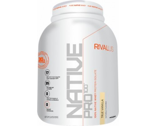 RIVALUS Native Pro 100 True Vanilla 2.8 Lbs. - All Natural Whey Protein