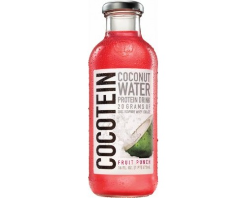 Nature's Best Cocotein Fruit Punch 12 - 16 Fl. Oz. Glass Bottles - Protein Ready-To-Drink Shakes