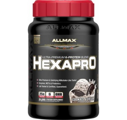 AllMax Nutrition HEXAPRO Cookies & Cream 3 Lbs. - Protein Powder